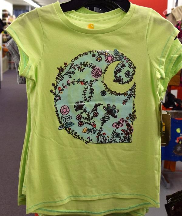 Girls Carhartt Flower Shirt.JPG