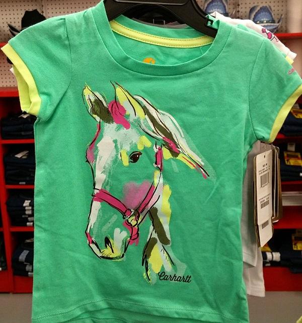 Girls Carhartt Horse Shirt