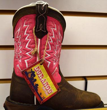 Girls Durango Pink Boots.JPG