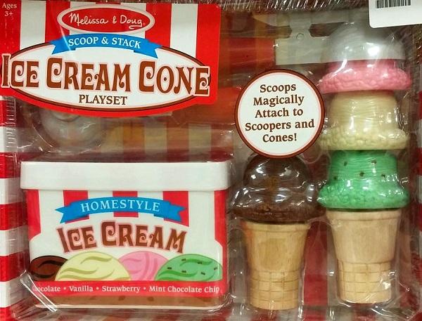 Melissa and Doug Ice Cream Cone Playset
