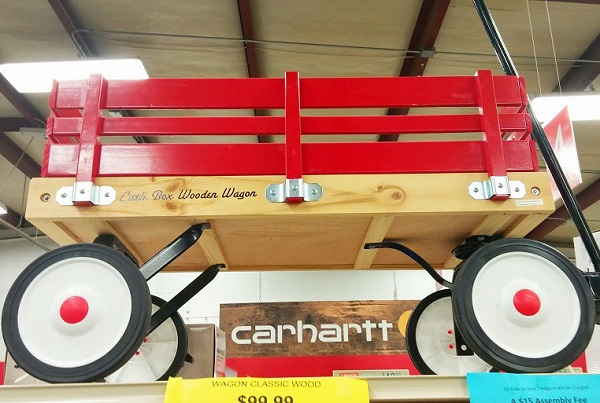 Red Wooden Wagon